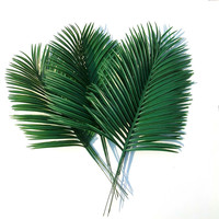 Artificial palm leaves 10pcs Green plants Decorative / artificial flowers for decoration / wedding decoration / 54cm long