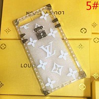 GUCCI New fashion bee stripe more letter print transparent couple protective cover phone case