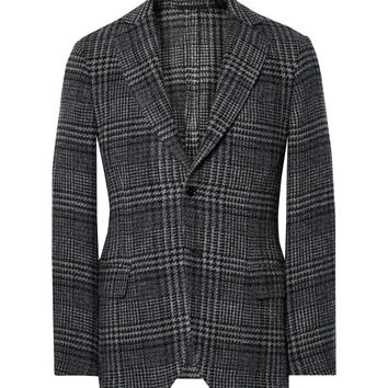 MP Massimo Piombo - Slim-Fit Prince of Wales Checked Wool and Cotton-Blend Blazer