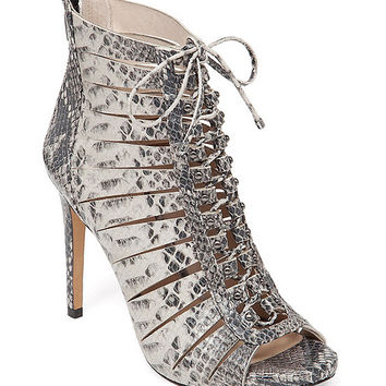 Vince Camuto Fionna Snake Ghillie Dress Sandals | Dillards