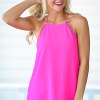 For The Frill Pink Top