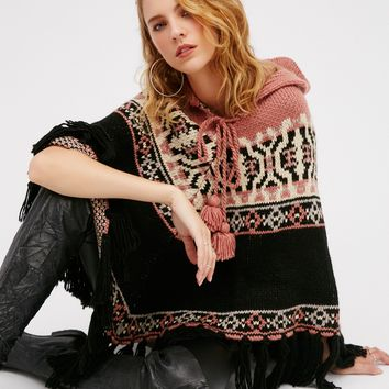 Free People High Life Fair Isle Poncho