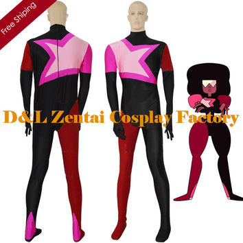 Free Shipping DHL Garnet From Steven Universe Female Superhero Catsuit Cosplay Halloween Costume