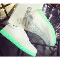 11 Color  Basket  LED Shoes 2015  Nice LED Shoes For Adults   Glowing Light Up Luminous Shoes  Chaussure Lumineuse  Basket Femme