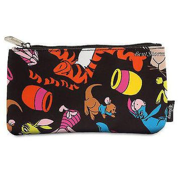 Licensed cool Winnie-the-Pooh and Friends Pouch Cosmetic Bag Purse Loungefly Disney Store NEW