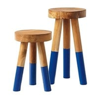 Dip Dyed Stools – Cobalt - Serena & Lily