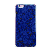 "Will Wild ""Blue & Gold Marble"" Navy Abstract iPhone Case"