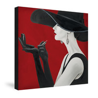 Haute Chapeau Rouge II Canvas Wall Art