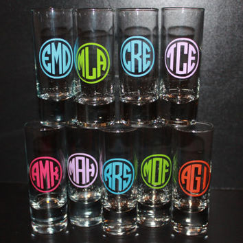 Personalized Shot Glass - - - Assorted Designs
