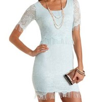 Layered Eyelash Lace Dress by Charlotte Russe