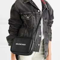BALENCIAGA Everyday printed textured-leather mini camera bag