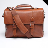 Antique Cruz Leather Messenger
