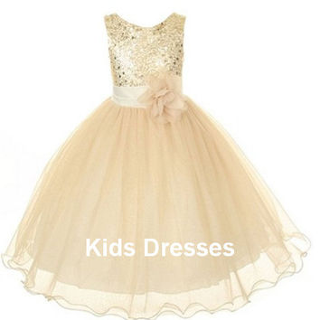 Flower Girl Dress, Easter Dress, Christmas Sequin dress, Special Occasion dress, Wedding Toddler Girls dress