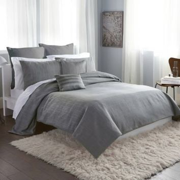 DKNY City Line Duvet Cover in Grey