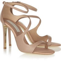 Stella McCartney Faux leather sandals – 55% at THE OUTNET.COM