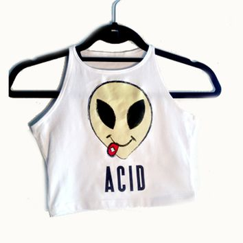 Acid Alien Tank Crop Top