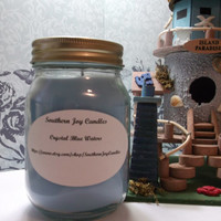 Crystal Blue Waters 16 oz Pint Jar Soy Candle