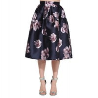 Floral A-line Mid Skirt