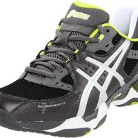 ASICS Men's GEL-Intensity 2 Cross-training Shoe,Gunmetal/Silver/Lime,9.5 M US