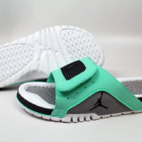 Nike Air Jordan Hydro 4 Retro Slides Sandals NEW Men SZ 11 12 13 Green Glow Fly