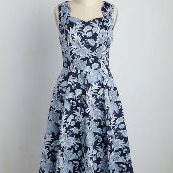 Classic Movie Marathon Dress in Navy | Mod Retro Vintage Dresses | ModCloth.com