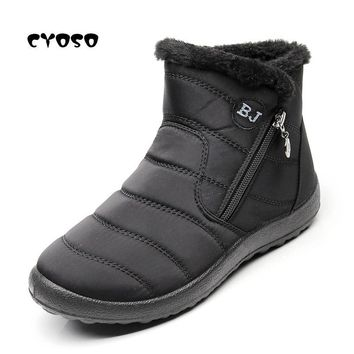 CYOSO Women Boots Female Snow Boots Winter Boots Woman Flats Waterproof Ankle Botas Mujer 2018 Shoes Feminina Causal Booties