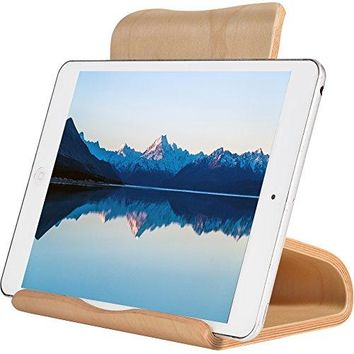 SAMDI Wood Tablet Stand Wooden iPad Holder Desktop Stand Holder Dock for new iPad 2017 Pro 97 105 Air mini 2 3 4 Kindle Nexus Accessories Tab Ereader other Tablets413 inchBlack Walnut