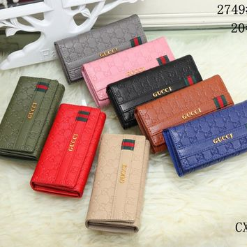 Best Deal Online GUCCI Womens Wallet Faux Leather RFID Blocking Purse Credit Card Clutch