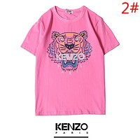 KENZO New fashion bust tiger letter print couple top t-shirt