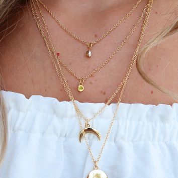 A New Day Necklace: Gold