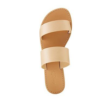 Faux Leather Band Sandals | Charlotte Russe
