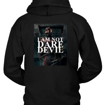 Marvel Dare Devil I Am Not Dare Hoodie Two Sided