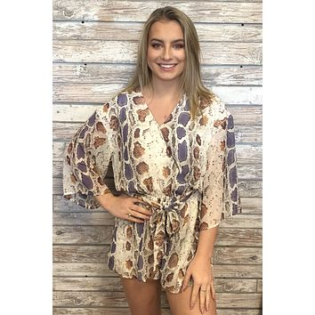 Stepping Out Romper- Snake