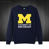 2017 new Michigan University American college baseball s jersey clothing Men's Sweatshirts Printed Men Hoodies Pullover XS-XXL