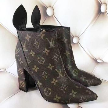 LV【 Louis Vuitton 】Women High Heels Shoes Boots Girl Pumps B/A