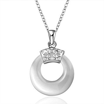 silver pendants circle round Zircon opal perfume women Hand Madeball 678 MP
