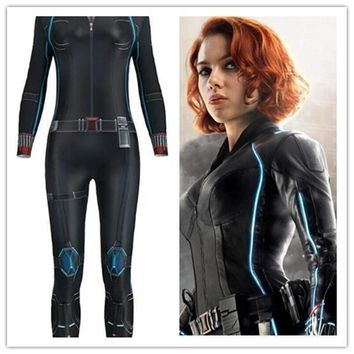 Cool Avengers Infinity War Black Widow Catsuit Cosplay Costumes 3D Printing  Adult Girls Sexy Halloween Bodysuit Jumpsuit MasqueradeAT_93_12