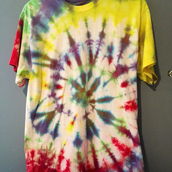 Soft Color Tie Dye Spiral Tshirt