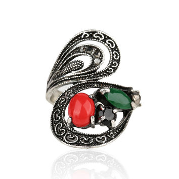 Retro Ring 2015 Fashion Classical Ancient Roman Bohemian Style Statement Exaggerated Wedding Rings For Women