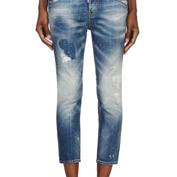Dsquared2 Blue Distressed Cool Girl Jeans