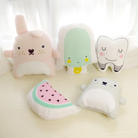 2016 New  Kids Cushion Watermelon /Teeth /Chinchillas/ Ice cream Creative Children Gift Stuffed Home Decoration Pillow Cushions