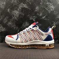 Nike Air Max 97 CLOT White Red Royal Blue Sport Running Shoes