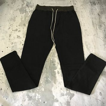 Best Version Zipped Ankle Skinny Fit Joggers Long Draw Cord Drawstring Pants Free Shipping