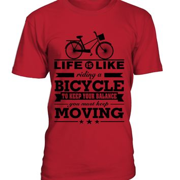 Life Is Like Riding A Bicycle T shirt