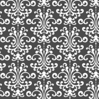 damask lg dark grey and white fabric by misstiina for sale on Spoonflower - custom fabric, wallpaper and wall decals