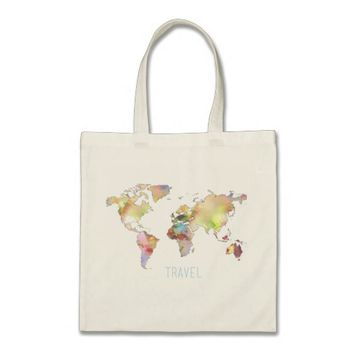World Map Travel Tote