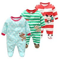Cotton Baby Rompers Christmas Baby Boy Clothes