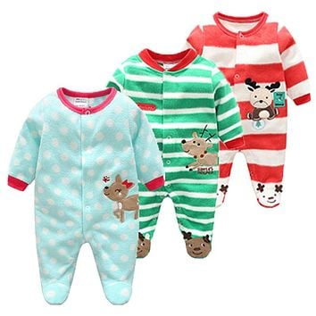 Cotton Baby Rompers Christmas Baby Boy Clothes Newborn Clothing Spring Baby Girl Clothes Roupas Bebe Infant Baby Jumpsuits