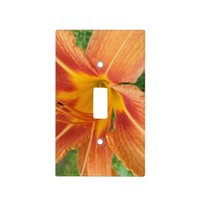 Gorgeous Orange Flower Light Switch