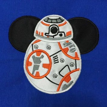 Disney May The 4th Be With You BB8 Appliqued T Shirt Available from 12m to 14/16